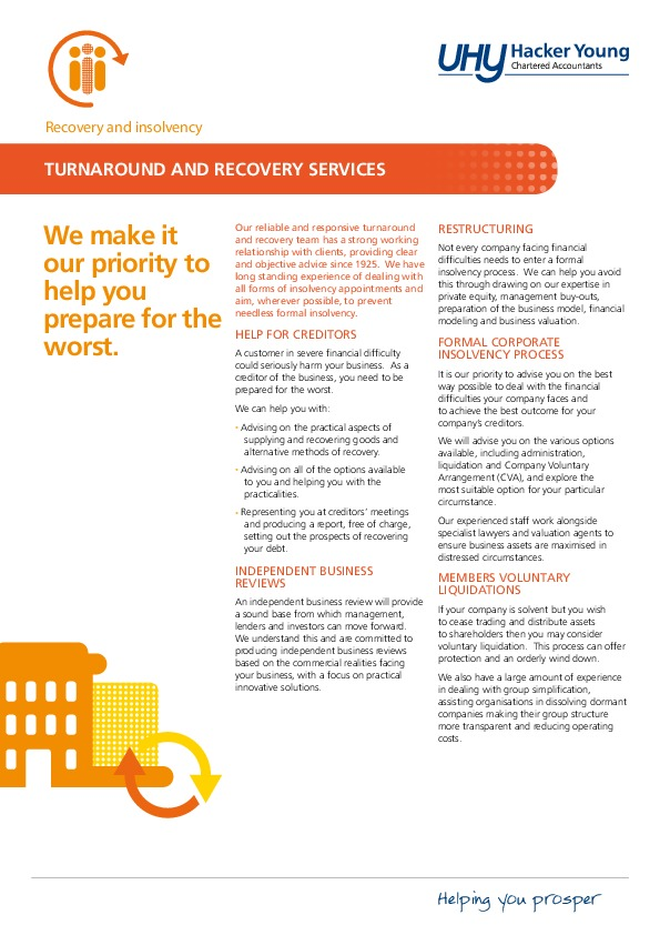Recovery and insolvency